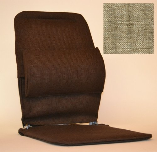 Lumbar Support - McCarty's Sacro Ease Backrest and Seat, Standard Model - BRSM (Light Brown)