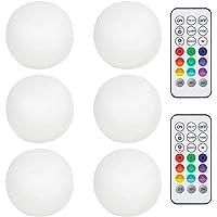 Pool LED-lampor, färg förändras LED Mood lampa Ball ljus vattentät Underwater ljus med fjärrkontroll, flytande pool ljus…