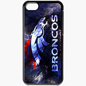 Personalized iPhone 5C Cell phone Case/Cover Skin 14533 denver broncos by freyaka d39hfx0 Black