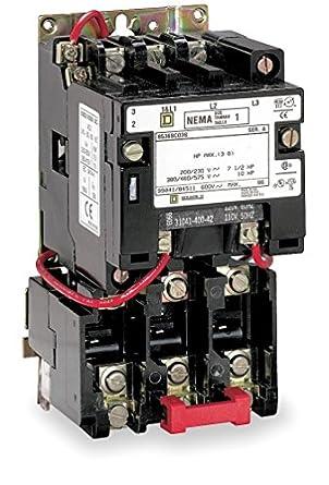 square d 8536seo1v03 magnetic motor starter 240vac