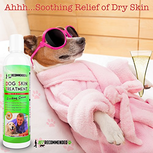 Picture of Vet Recommended Dog Dry Skin Treatment - Helps Dog Hair Loss Regrowth - Dog Dry Nose & Cracked Paws - Works with Hot Spot Treatment For Dogs & Helps with Dogs With Dry Skin - 240ml