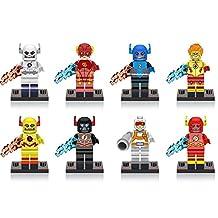 New The Flash Barry Allen Zoom Justice League Play Set 8pcs MiniFigures Building Blocks Toy for Children, ABS Plastic Multi-color