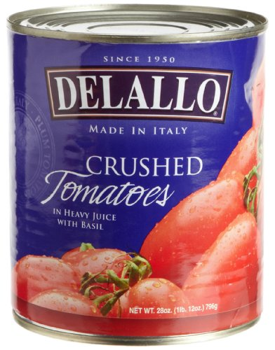 DeLallo Imported Italian Crushed Tomatoes, 28-Ounce Cans (Pack of 12)