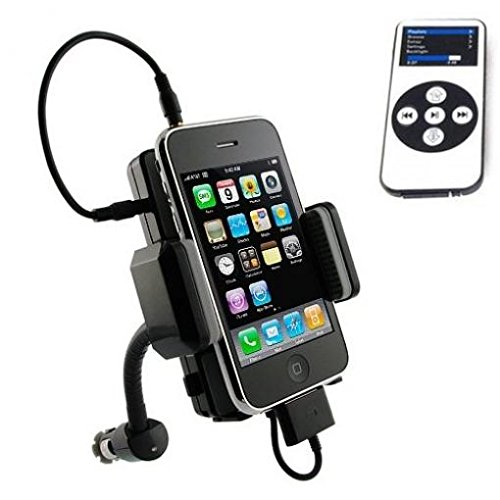 car-mount-wireless-fm-transmitter-charger-holder-extra-usb-port-dock-cradle-swivel-with-remote-contr