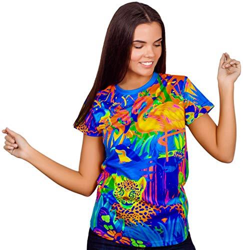 aofmoka Neon Travel Sky Wonder Graphic YouTube Animals Printed Funny Tee Shirt