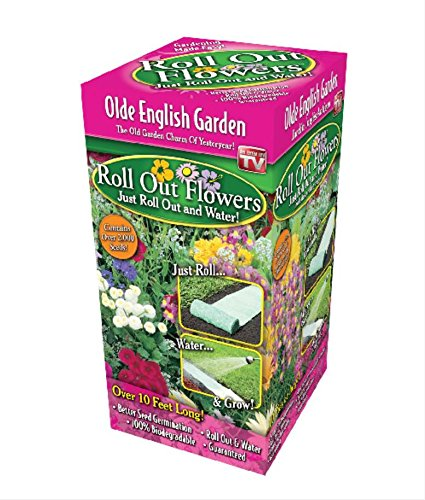Easy Garden Roll Out Flowers Olde English Garden kit - OE1000 10-Foot by 10-Inch - by Garden Innovations Love Grows Wildflower Seeds