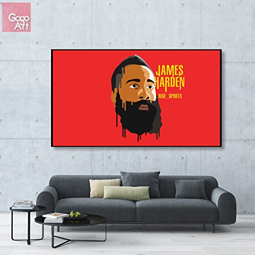 GoGoArt ROLL Canvas print wall art photo big picture poster modern (no framed no stretched not oil painting) James Harden nba sport basketball mvp Houston Rockets super star A-0067-1.75