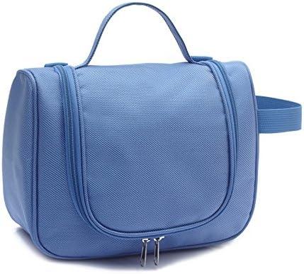 ウォッシュバッグ フック付きトラベルトイレタリーバッグ特大メイク主催防水シャワーウォッシュバッグ化粧ケース家庭用グルーミングキットストレージトラベルキットパック トイレタリーバッグ (Color : Blue)