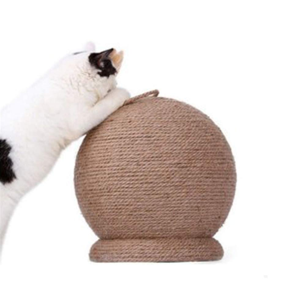 Large Cat Scratch Board Ball Toy Round Sisal Ball Cat Claw Sharpener Molar Supplies Catnip Cork Ball Feather Bell Pets Toys