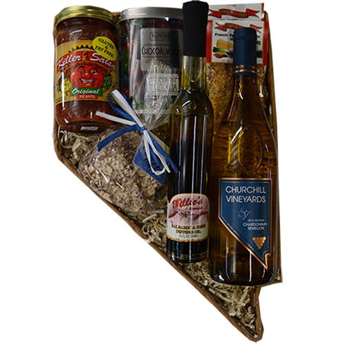 Nevada Shaped Sweet and Savory Party Basket