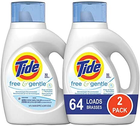 picture of Tide Free and Gentle HE Liquid Laundry Detergent, 2 Pack