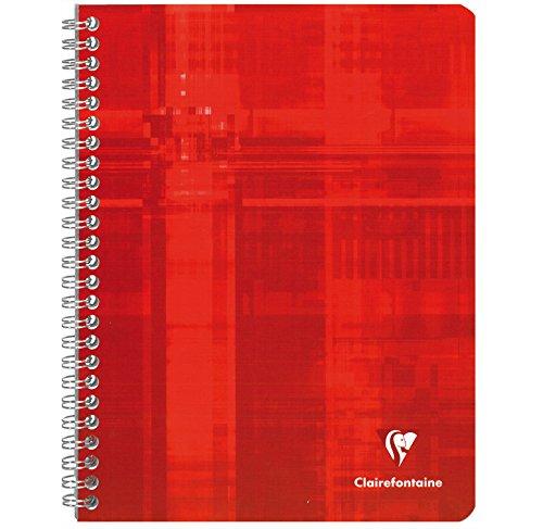 CLAIREFONTAINE Cahier reliure int/égrale 17x22 100p 90g papier velout/é s/éy/ès