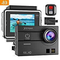 Jeemak 4K Action Camera Touch Screen WiFi Remote Control 98ft Underwater Waterproof Cam Sport Cameras with Mounting Accessories Kits