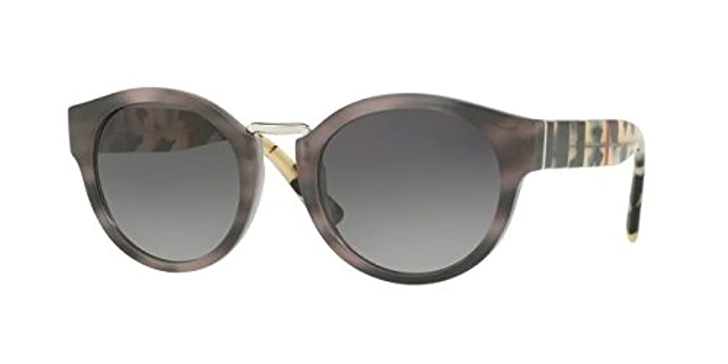8715d81f7e9ed Amazon.com  Burberry BE 4227 3670T3 Striped Grey Sunglasses Grey Gradient  Polarized Lens  Clothing