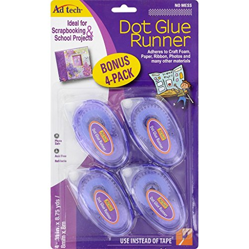 Ad-Tech Permanent Dot Runner 4/Pkg-.31