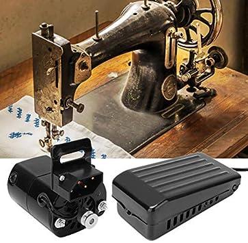 HEEPDD Pedal de la máquina de Coser, Pedal de Interruptor de acción de velocidades Variables de 180 vatios con Motor para Piezas de máquinas de Coser domésticas Vintage(Enchufe de la UE 220V)