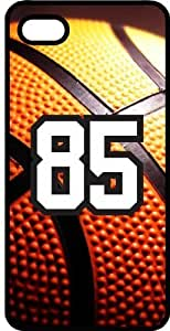 Basketball Sports Fan Player Number 85 Black Rubber Decorative iphone 5s Case