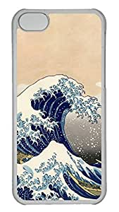 Customized iphone 5C PC Transparent Case - Surfing Cover