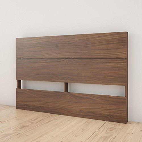 - Nexera 365931 Plank Effect Headboard, Queen, Walnut
