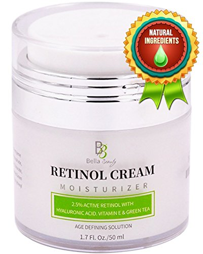 Retinol Moisturizer Anti Aging Cream for Face and Eye Area - With Hyaluronic Acid - 2.5% Active Retinol - Vitamin E - Reduce Appearance of Wrinkles and Fine lines - Best Day and Night Face Cream from Bella Beauty Labs