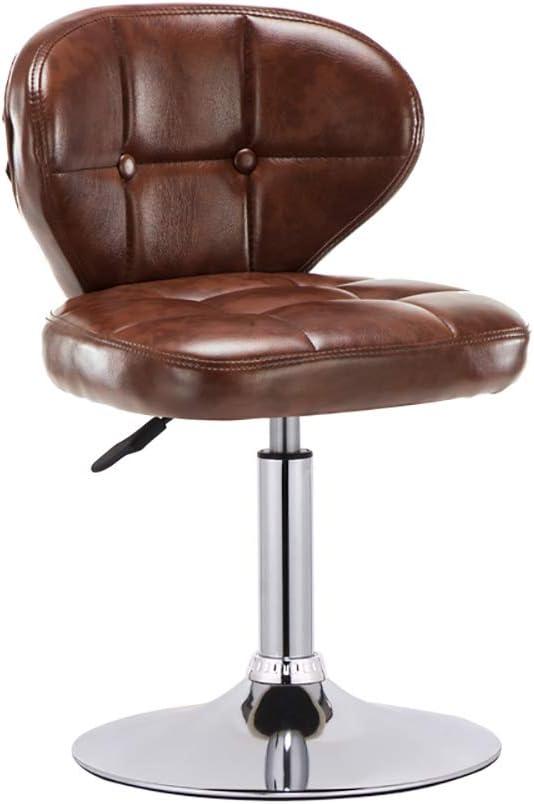 Taburete redondo con asiento deportivo ajustable Taburetes altos, cojines suaves acolchados, asiento cómodo, un elemento familiar esencial-brown
