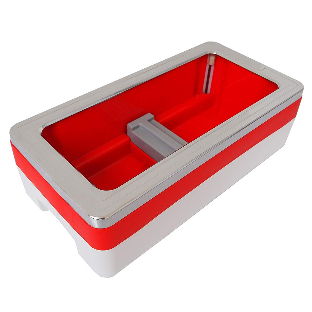 Shoe Cover Machine Dispenser Automatic Anti Slip Anti-Wear Home Medical, 400 Disposable Plastic Shoe Covers, ABS Plastic Safety, Unisex Disposable Forming Foot Mould (16x8x5 in),Red by SOULOS (Image #7)