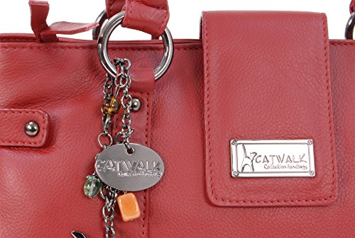 CATWALK COLLECTION - MARTINA - Bolso de mano - Cuero Rojo