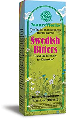 Swedish Bitters Extract 16.9 Oz ( Helps Promote Digestion & Regularity ) by Natureworks