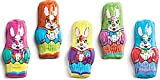 Madelaine Solid Premium Milk Chocolate Mini Bunnies Wrapped In Colorful Tuxedos (1 LB)