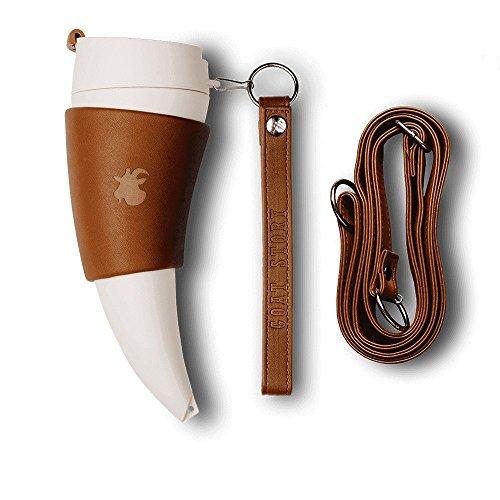 GOAT STORY Mug, Faux leather, 12 oz, Brown ()