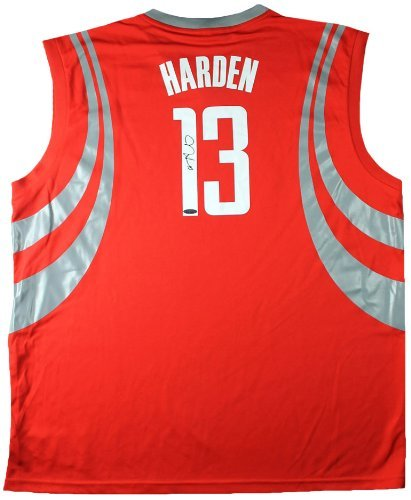 9a86a4729 James Harden Signed Autographed Houston Rockets Red Adidas Jersey TRISTAR  COA at Amazon s Sports Collectibles Store