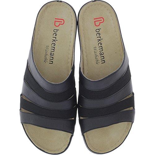 Berkemann Sandals Slip-On Bine black Micronubuck Softfootbed Middle TzkvYB