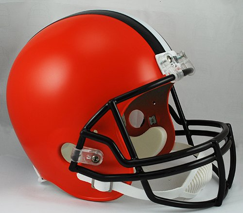 NFL Cleveland Browns Replica Full Size Helmet, Medium, Black/Orange by Riddell