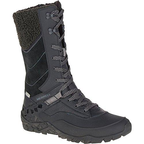 Merrell Women's Aurora Tall Ice + Waterproof Winter Boot, Black, 5.5 M US