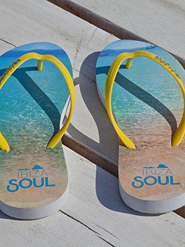 Ibiza Soul - Sandalias mujer Cala Bassa Yellow