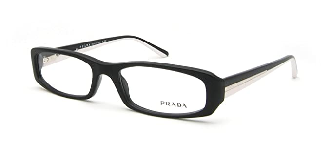 Amazon.com: Prada mujer 08 M Negro Marco de plástico lentes ...