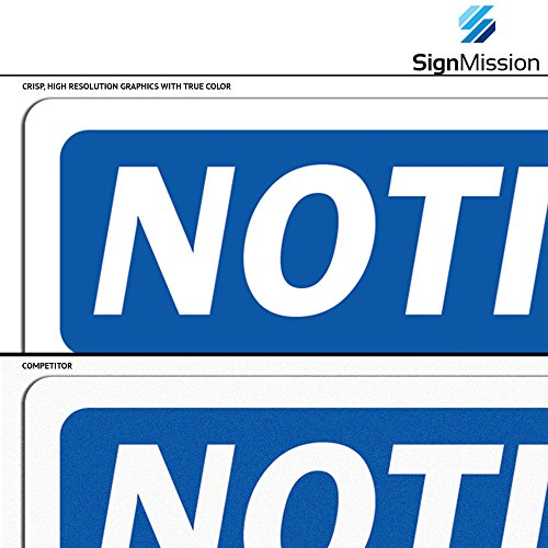 OSHA Notice Sign - Door Locked During Business Hours Ring Bell | Choose from: Aluminum, Rigid Plastic or Vinyl Label Decal | Protect Your Business, Work Site, Warehouse & Shop Area | Made in The USA by SignMission (Image #5)