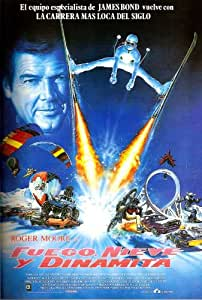 Póster de película Fire, Ice & Dynamite Español 27x 40In–69cm x 102cm), Roger Moore Shari BELAFONTE Simon Pastor Uwe ochsenknecht marjoe gortner