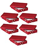 7x5x1-1/4'' RED Jewelry Boxesw/Non-Tarnish Cotton (1 unit, 100 pack per unit.)