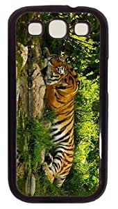 case grove Tiger in Bush PC Black case/cover for Samsung Galaxy S3 I9300