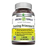 Amazing Formulas Evening Primrose Oil 1300 Mg 120 Softgels – High Potency- Made with 10% Gamma Linoleic from Non-GMO Hexane Free Cold Pressed Oil For Sale