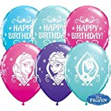 Disney Frozen Joyeux Anniversaire 27.9cm Qualatex ballons en Latex x 10