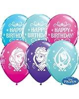 "Disney Frozen Happy Birthday 11"" Qualatex Latex Balloons x 10"