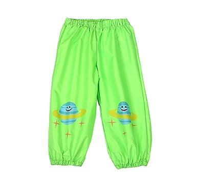 66705790c8cc0 D C.Supernice Kids Waterproof Trousers Childrens Boys Girls Cute Cartoon  Printed Waterproof Pants Rainwear: Amazon.co.uk: Clothing
