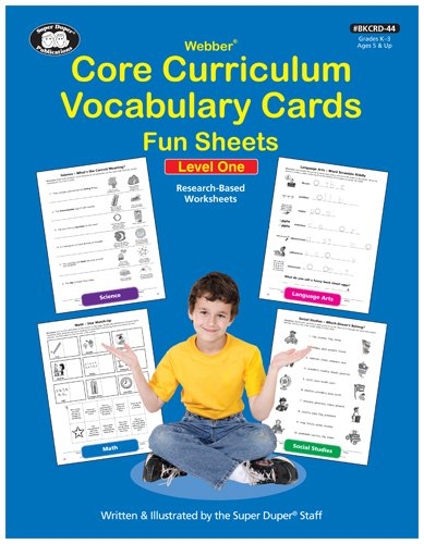 Core Curriculum Vocabulary Cards Fun Sheets Level 1 for $<!--$30.00-->