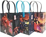 Disney Big Hero 6 Premium Quality Party Favor Goodie Medium 8'' Gift Bags 12 (12 Bags)