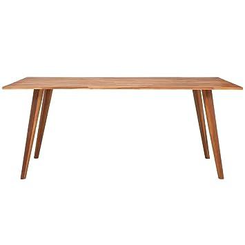 Vidaxl Table De Salle A Manger En Bois D Acacia Massif Marron Table