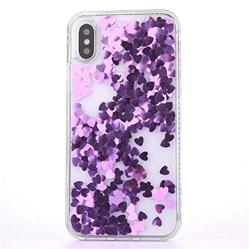 - Casa iPhone Xr Bling Casa, Glitter Liquid Bling Floating Bling Sparkle Luxury Pretty Girls Crystal Clear Case for Apple iPhone Xr 6.1'' (Purple)