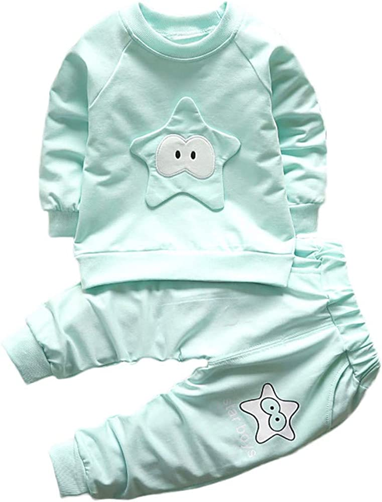 Hosen Outfits Set Felicove Baby Jungen M/ädchen Kinder Tiere Kleidung Warme Bekleidungssets Babybekleidung Oberteile Babymode Pullover 2 ST/ÜCKE Langarm T-Shirt