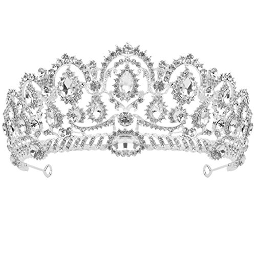 SUMERSHA Wedding Tiara Big Queen Crown Wedding Bridal Rhinestones Elegant Headband Pageant Princess Crown Wedding Prom Bridal Crown Shining Decoration for Women Party Daily Use - Queen Crown Mother